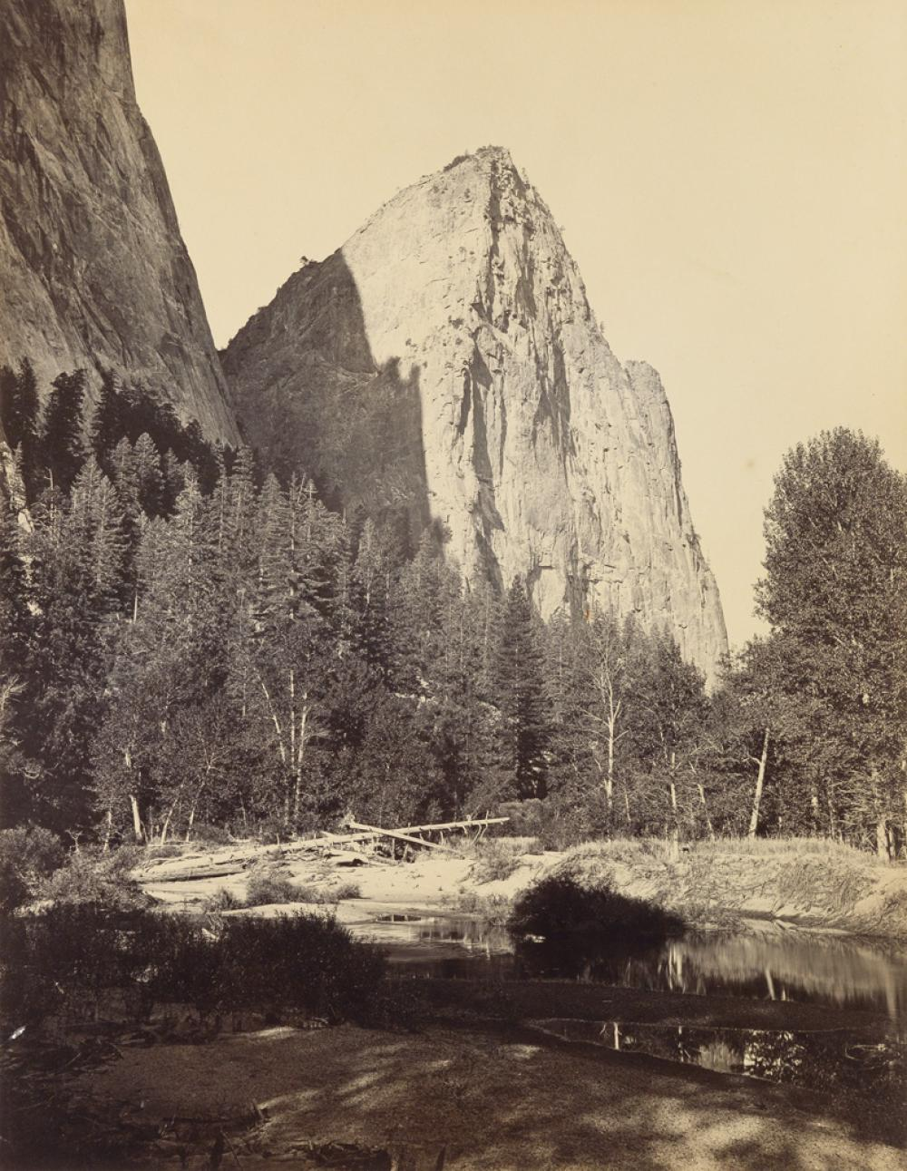 CARLETON WATKINS (1829-1916) Lower Cathedral Rock, Yosemite.