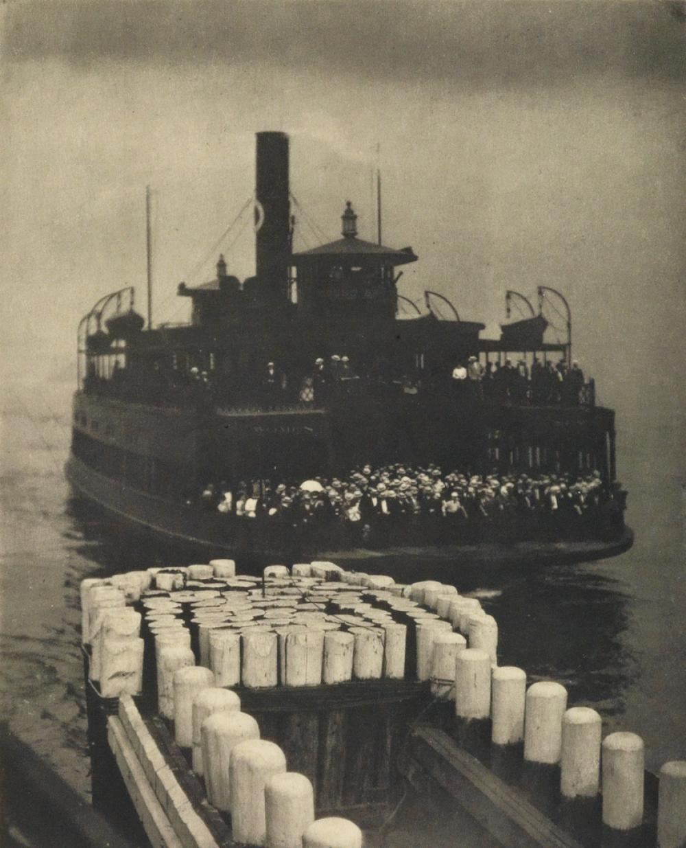 ALFRED STIEGLITZ (1864-1946) The Ferry Boat * Dirigible * Snapshot: Paris, from Camera Work Number 36 (2) and Camera Work Number 41 (on