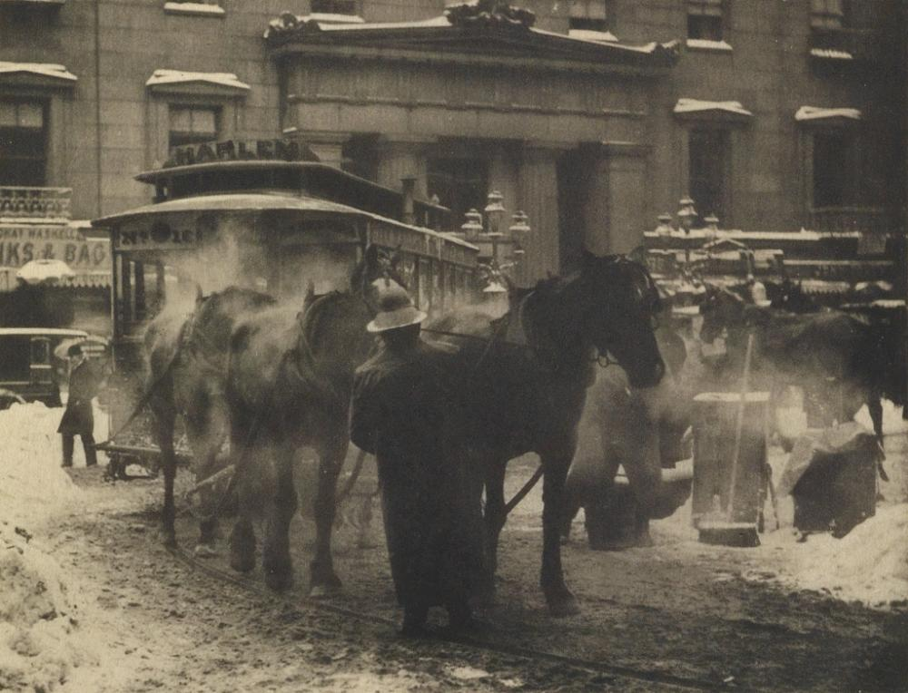 ALFRED STIEGLITZ (1864-1946) The Terminal, from Camera Work Number 36.