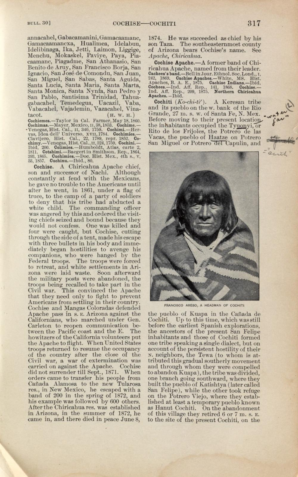 (EDWARD S. CURTIS.) Handbook of American Indians, Part 1, A-M, Bulletin #30 * Handbook of American Indians, Part 2, N-Z, Bulletin #30,