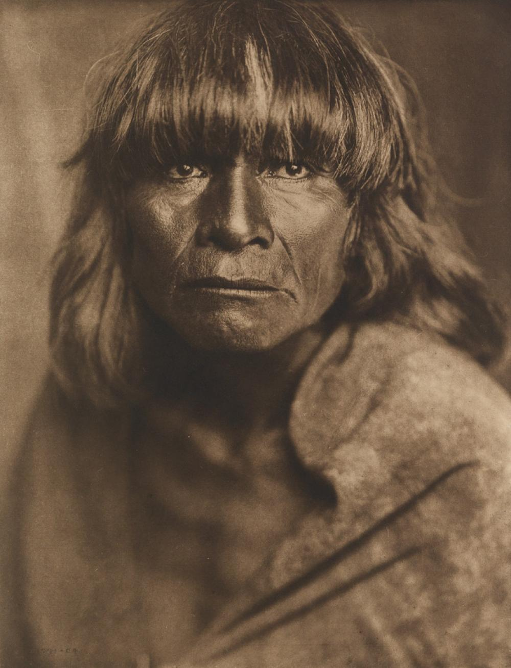 EDWARD S. CURTIS (1868-1952) A Hopi Man, plate 420 from The North American Indian.