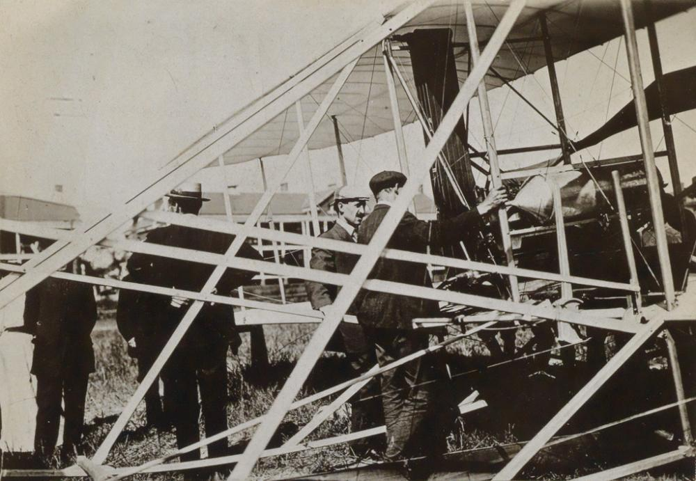 (WRIGHT BROTHERS) A group of 19 rare photographs of the Wright Brothers' and their flying machines and biplanes.