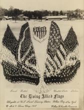ARTHUR MOLE (1889-1983) & JOHN THOMAS (active 1918-1919) The Living Allied Flags, Bluejackets at U.S. Naval Training Station, Pelham Ba