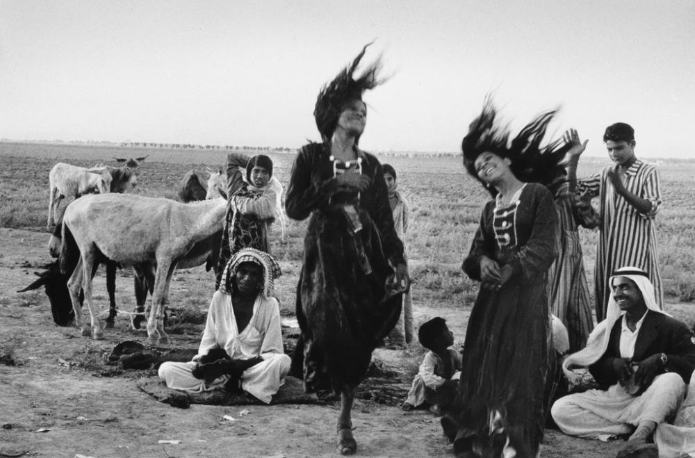 INGE MORATH (1923-2002) Bedouins Dancing, South of Baghdad * Bridesmaid's Hairdo, Navalcan, Spain.