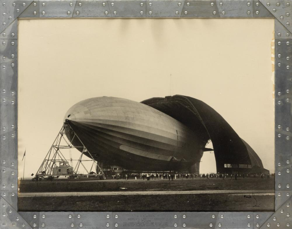 MARGARET BOURKE-WHITE (1904-1971) U.S.S. Airship Akron, World's Largest Airship.