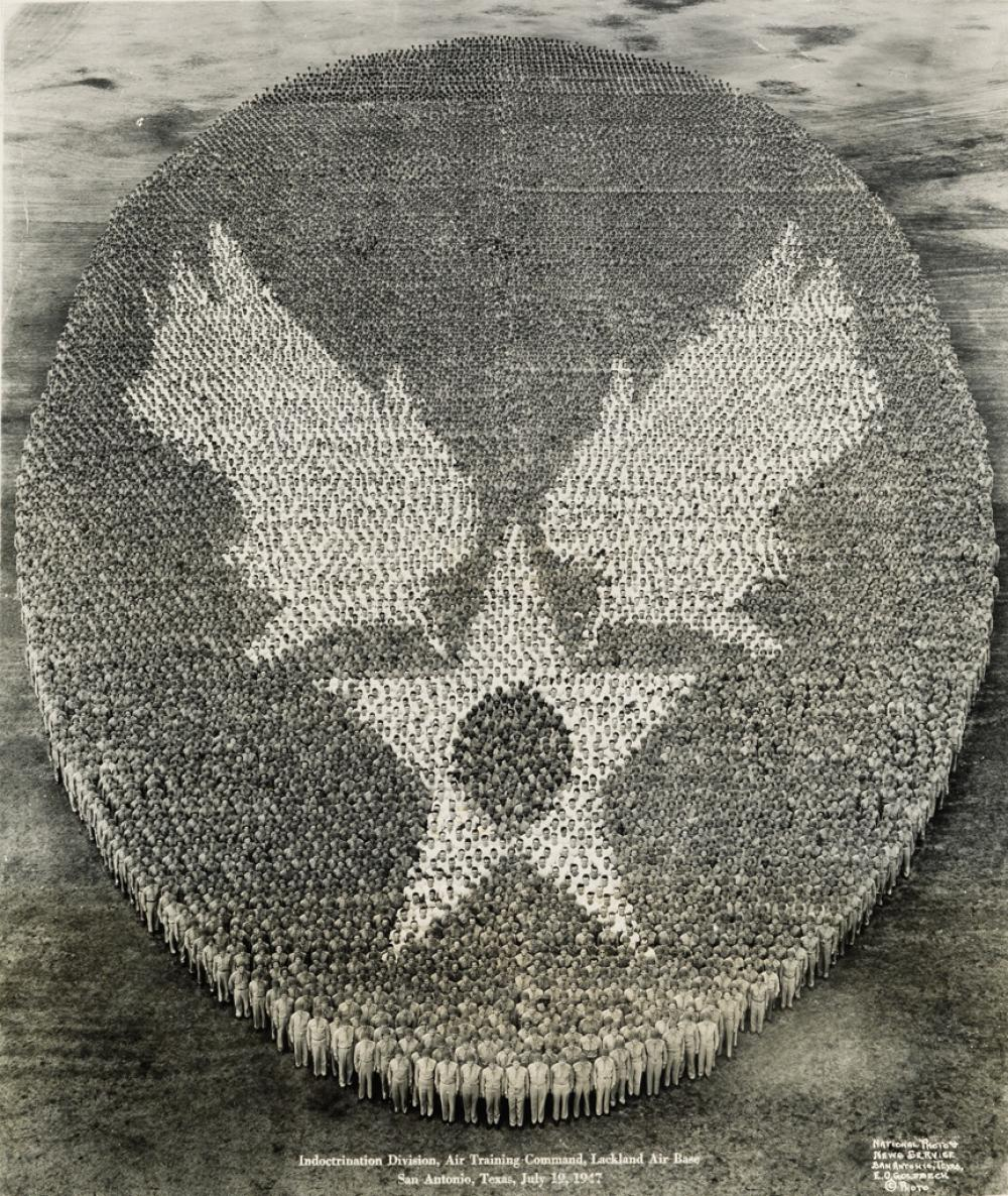 EUGENE GOLDBECK (1892-1986) Indoctrination Division, Air Training Command, Lackland Air Base, San Antonio, Texas, July 19, 1947.