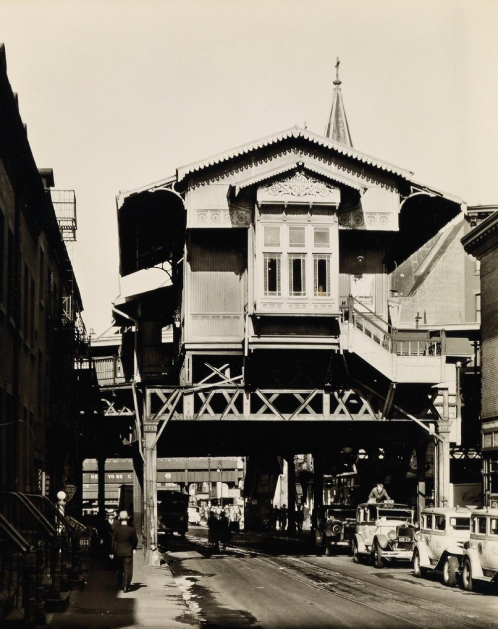 BERENICE ABBOTT (1898-1991) El Station, Ninth Avenue Line.