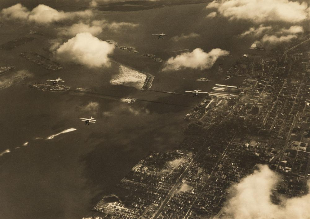 MARGARET BOURKE-WHITE (1904-1971) Aerial view of Palm Island.