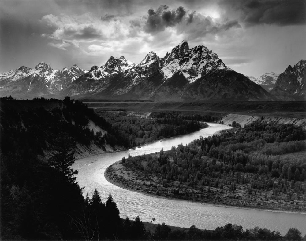 ANSEL ADAMS (1902-1984) The Grand Tetons and the Snake River, Grand Teton National Park, Wyoming.