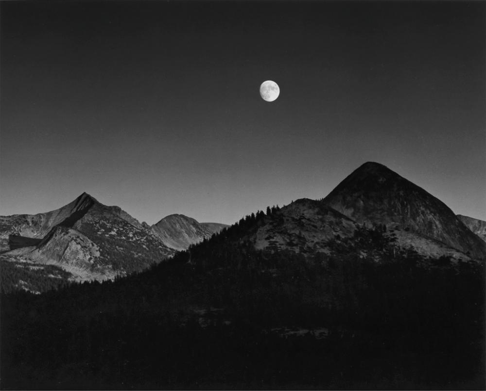 ANSEL ADAMS (1902-1984) Moonrise from Glacier Point.