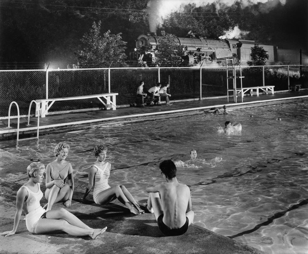 O. WINSTON LINK (1914-2001) Swimming Pool, Welch, WV.