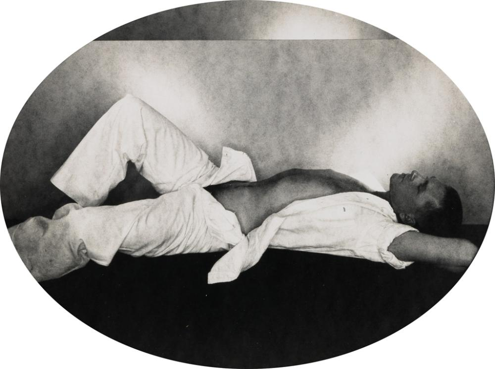 GEORGE PLATT LYNES (1907-1955) Male Nude in Cartouche.