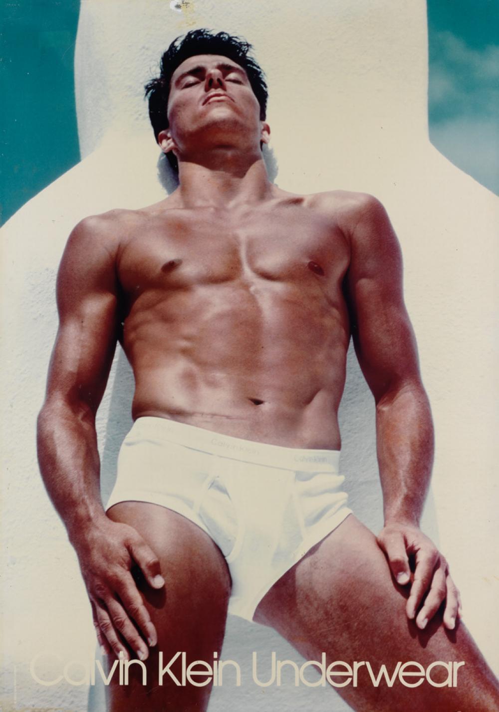 BRUCE WEBER (1946- ) Calvin Klein Underwear bus stop poster.