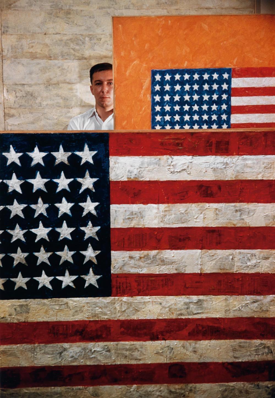 DAN BUDNIK (1933- ) Jasper Johns, Leo Castelli Gallery.