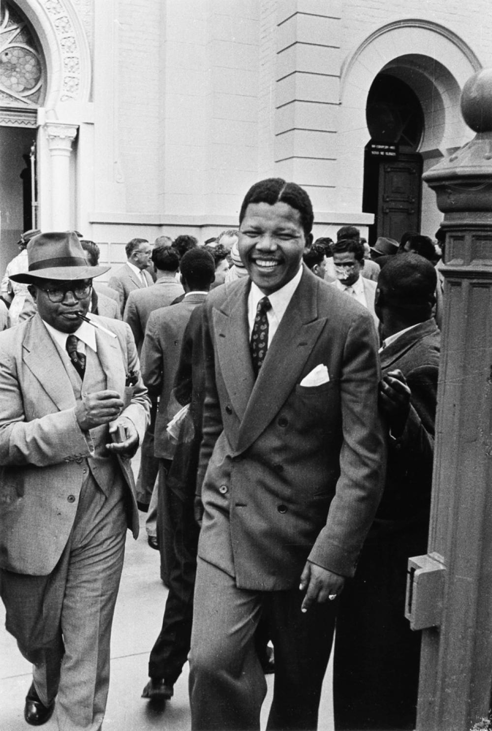 JÜRGEN SCHADEBERG (1931- ) Nelson Mandela and Moses Kotane During the Treason Trial in Pretoria.