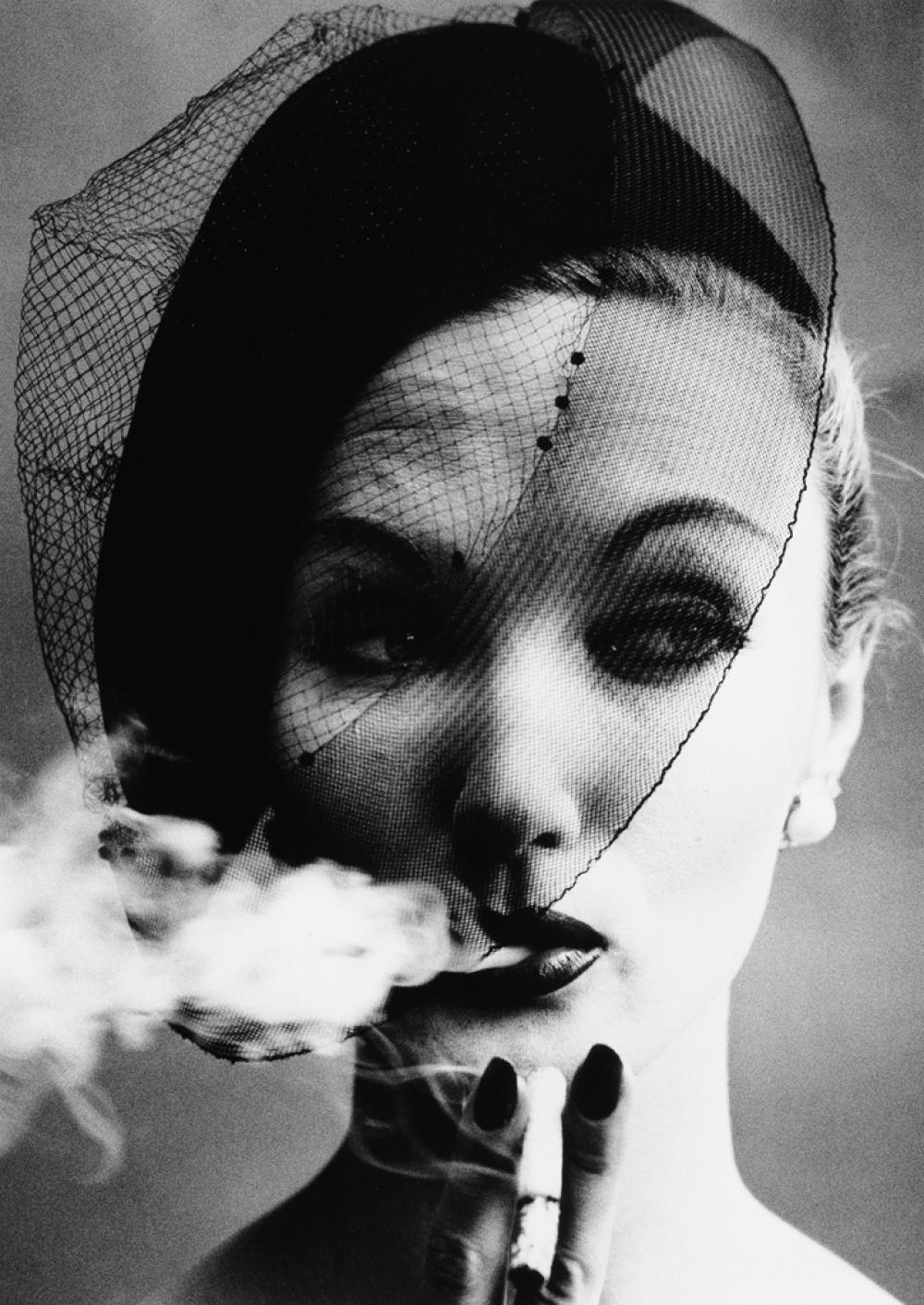 WILLIAM KLEIN (1928- ) Smoke + Veil, Paris (Vogue).
