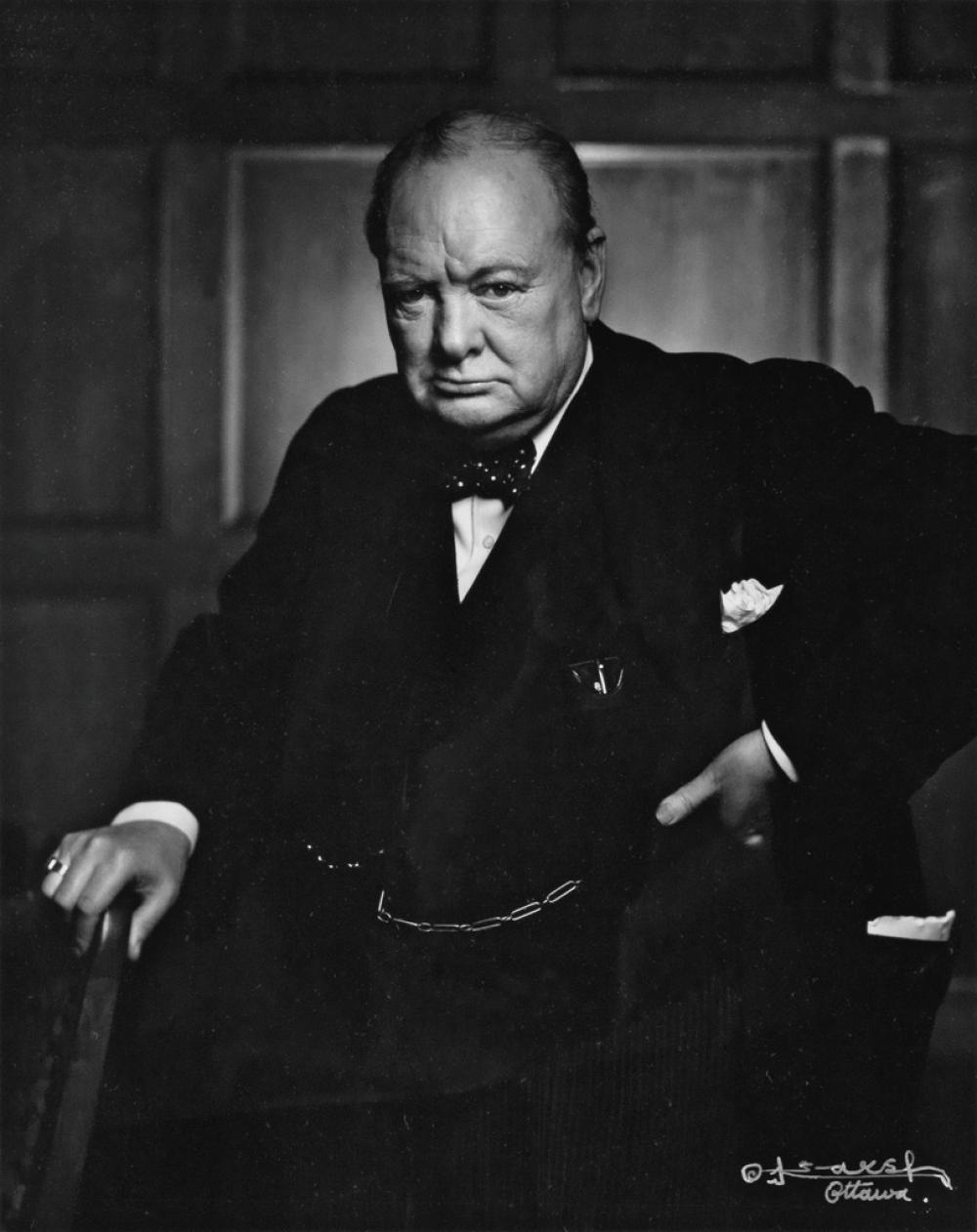 YOUSUF KARSH (1908-2002) Portrait of Winston Churchill.