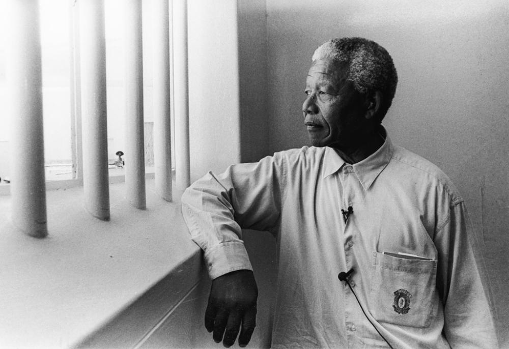 JÜRGEN SCHADEBERG (1931- ) Nelson Mandela in His Cell on Robben Island.