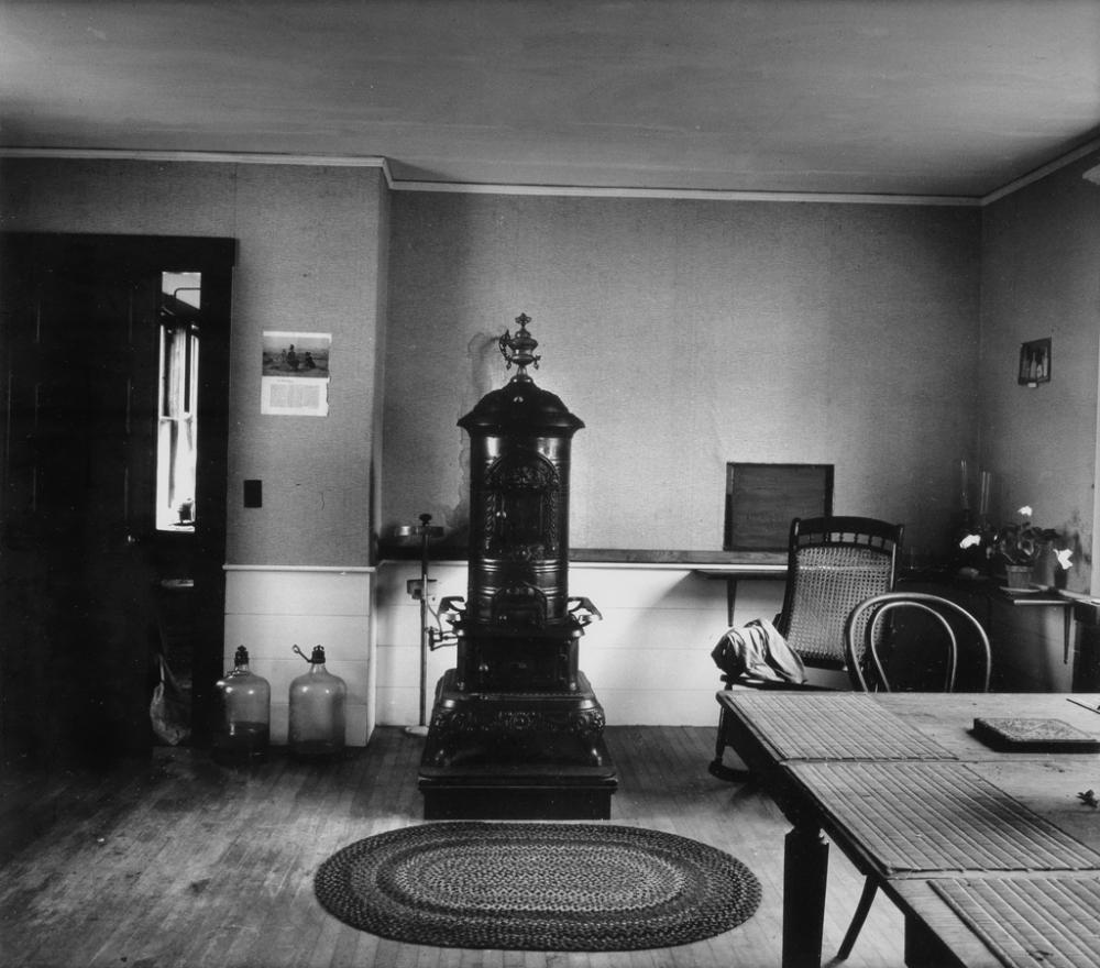 WALKER EVANS (1903-1975) Stove, Heiker House, Cranberry Island, Maine.