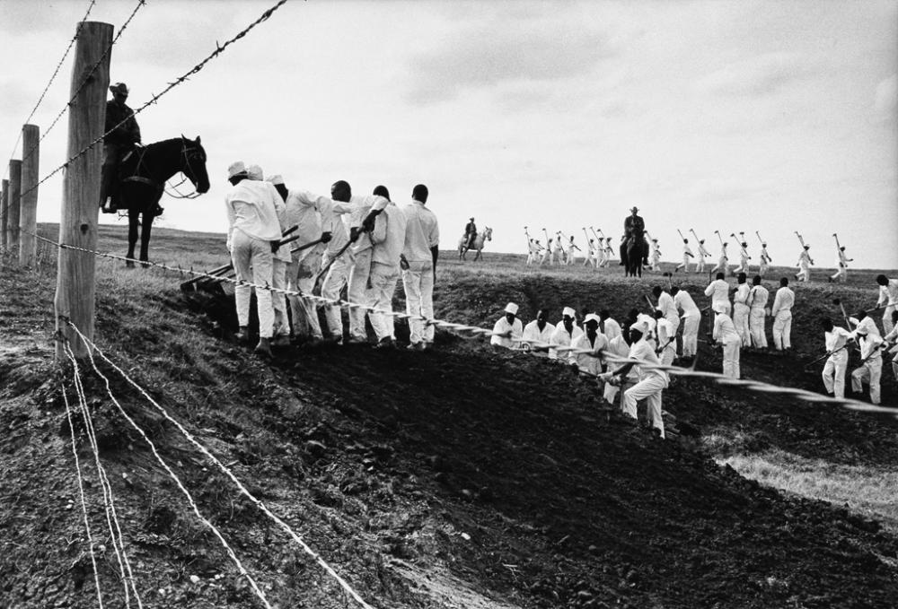 DANNY LYON (1942- ) The Line, Ferguson Unit, Texas.