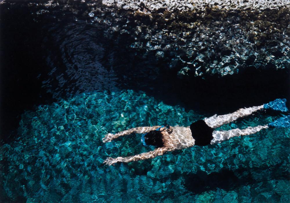 ERNST HAAS (1921-1986) Swimmer.
