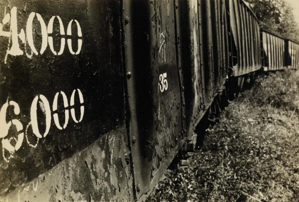 WALKER EVANS (1903-1975) Freight cars.
