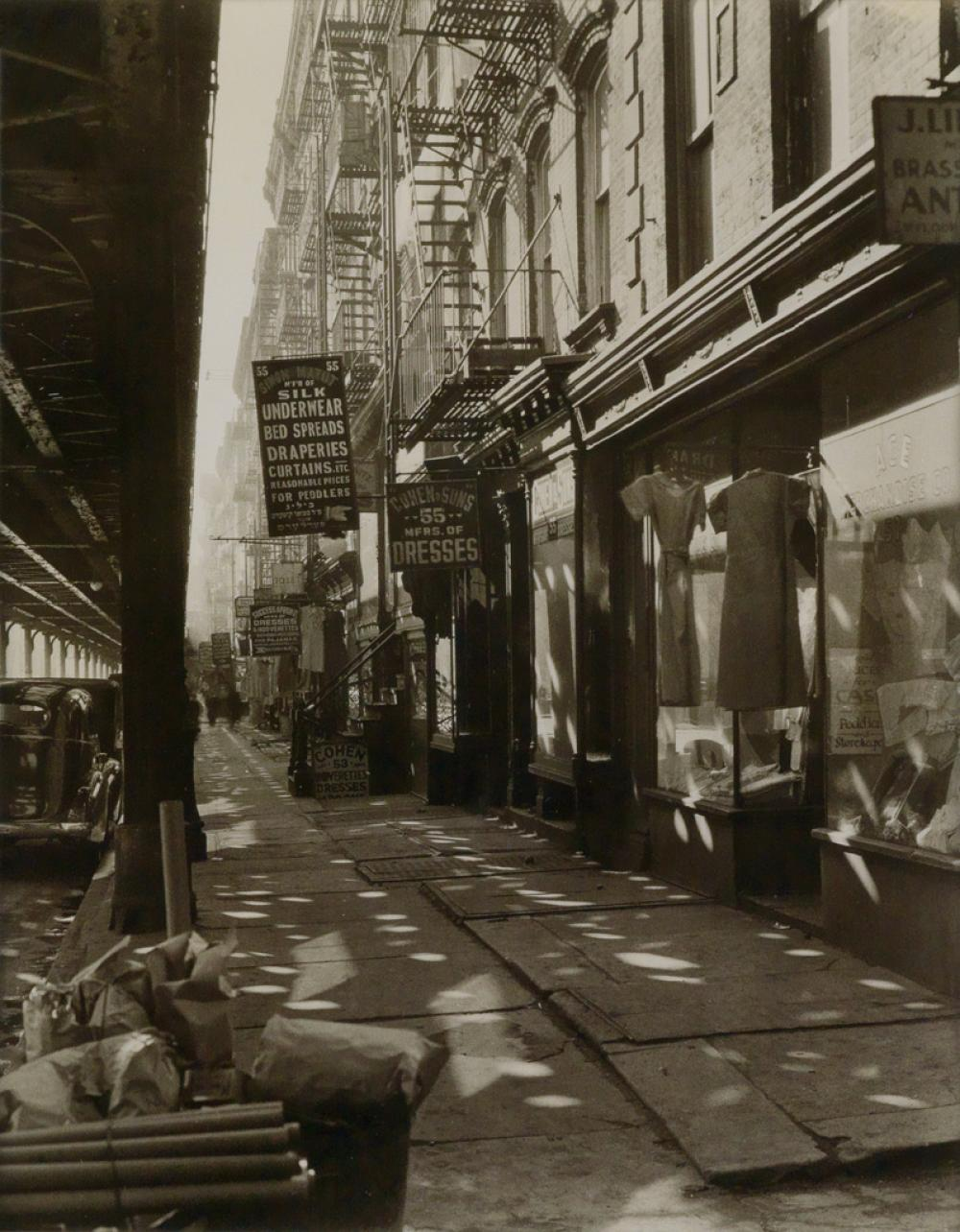 BERENICE ABBOTT (1898-1991) Allen Street #55-57.