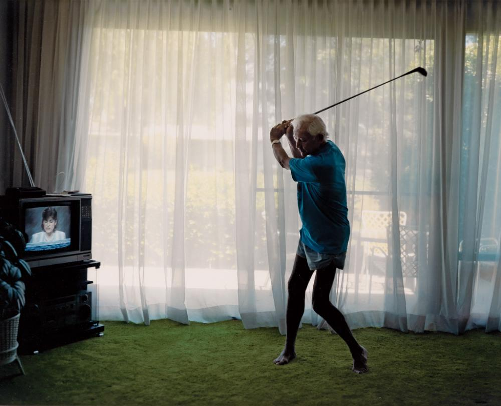 LARRY SULTAN (1946-2009) Practicing Golf Swing.