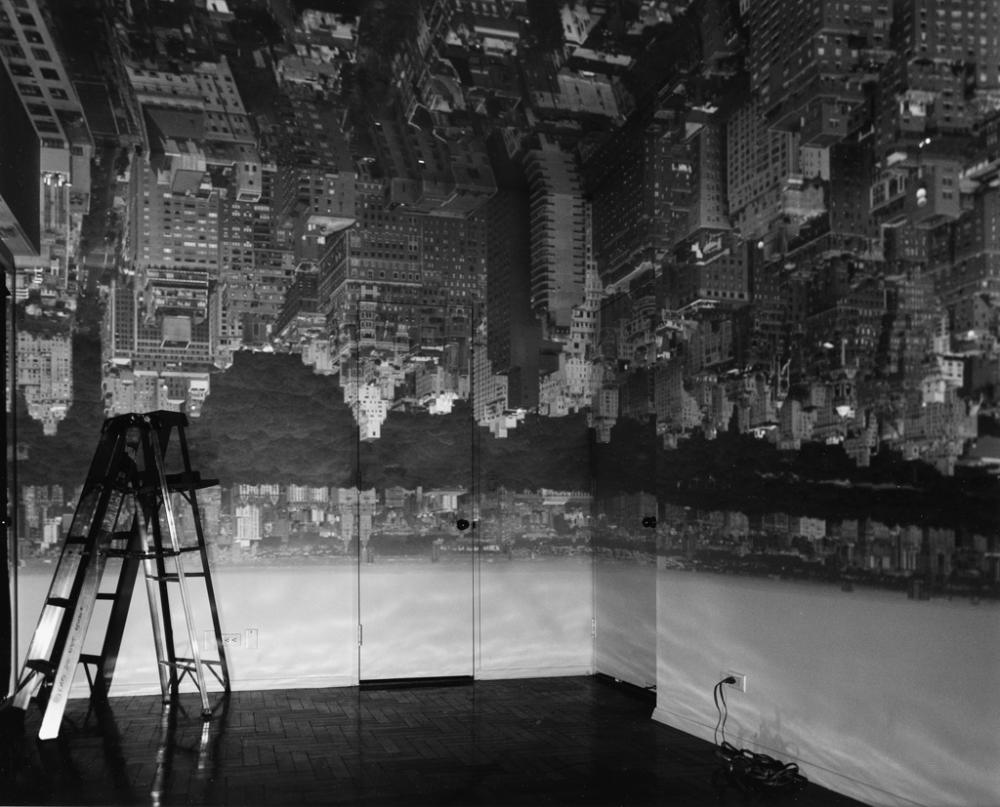 ABELARDO MORELL (1948- ) Camera Obscura Manhattan View, Looking West in an Empty Room.