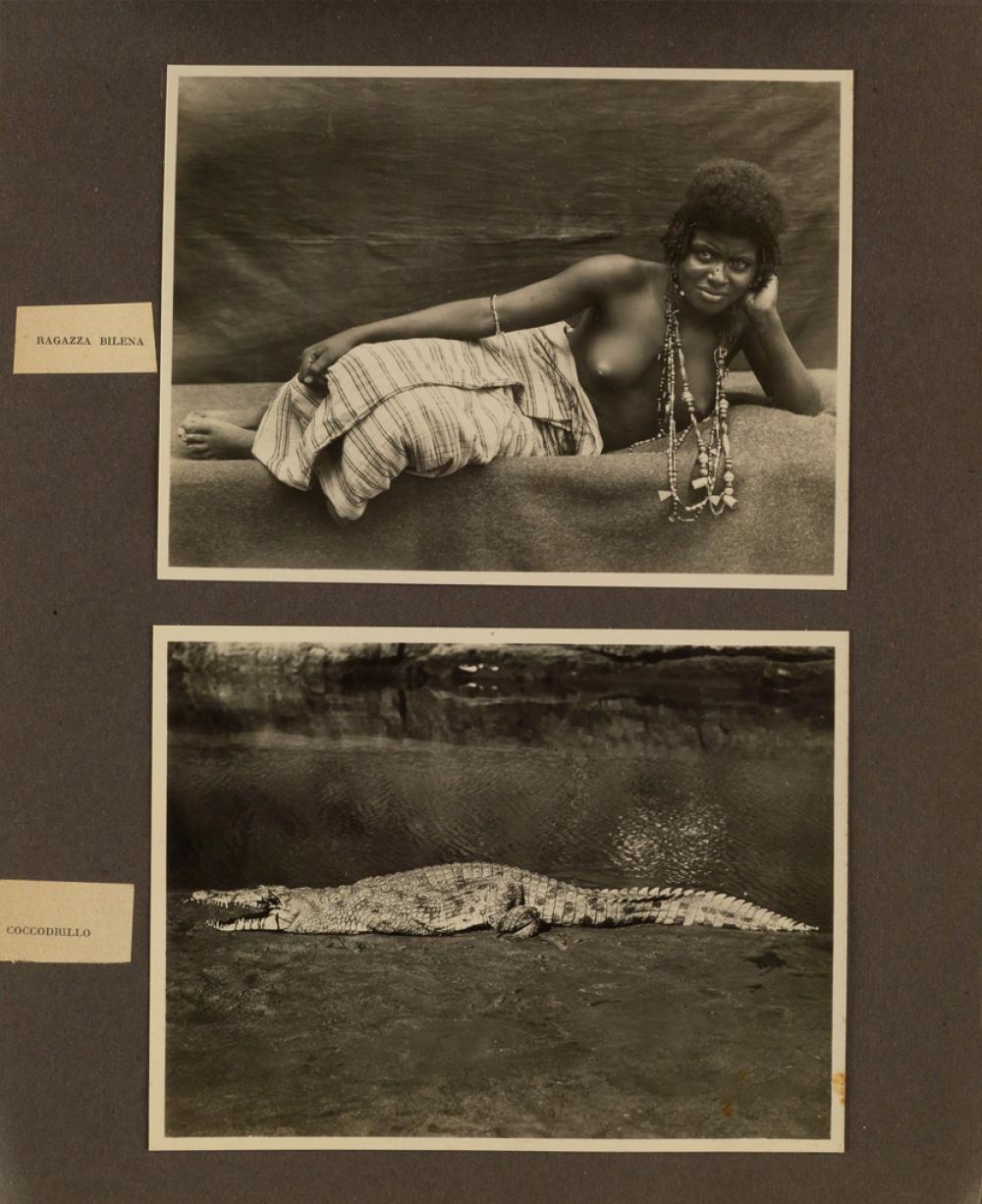 (ERITREA--AFRICA) An album with more than 260 extraordinary photographs of Italian Eritrea titled Fondazione dell'Impero Anno IX Maggi