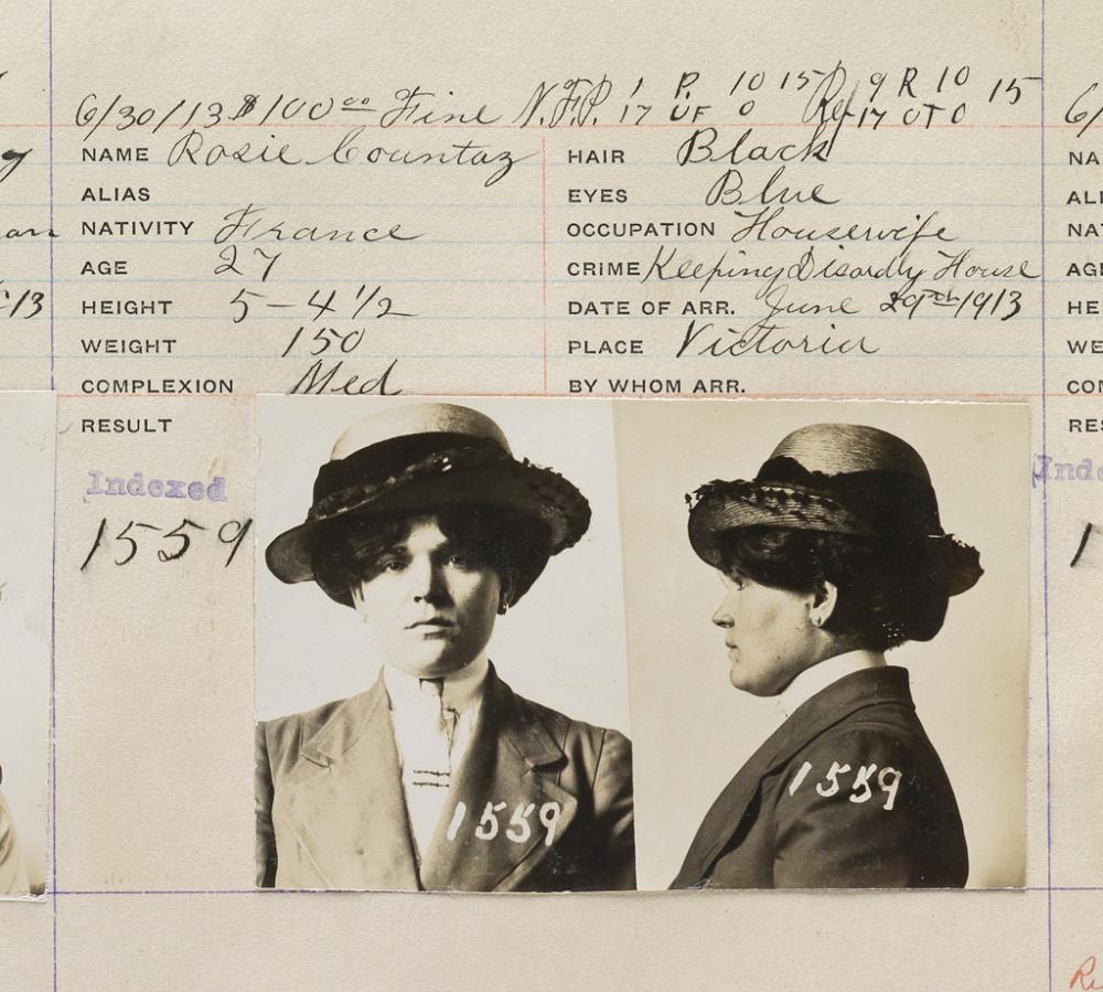 (CRIME) A Canadian mugshot album entitled Foreign Photographs containing approximately 1,470 photographs compiled by the Victoria Polic