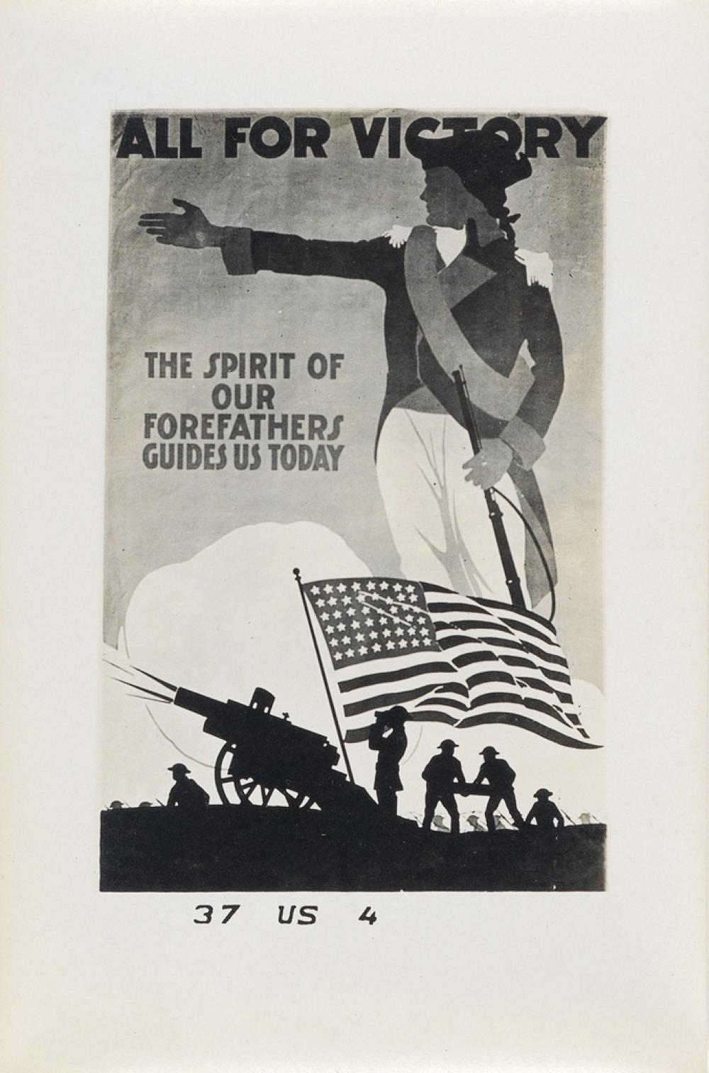 (WWI--POSTERS) A large and thorough archive with more than 2,450 photographs of World War I-era posters.