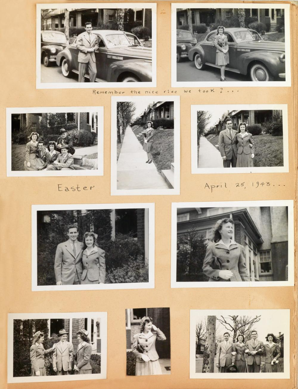 (VERNACULAR LOVE STORY) A scrapbook tenderly documenting the love story of Virginia and Bob.