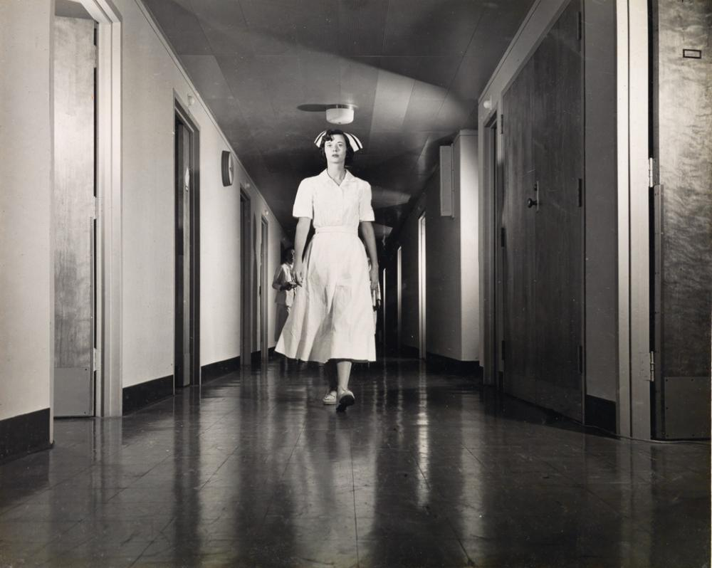 O. WINSTON LINK (1914-2001) A binder with 37 crisp photographs documenting a hospital in New York City.