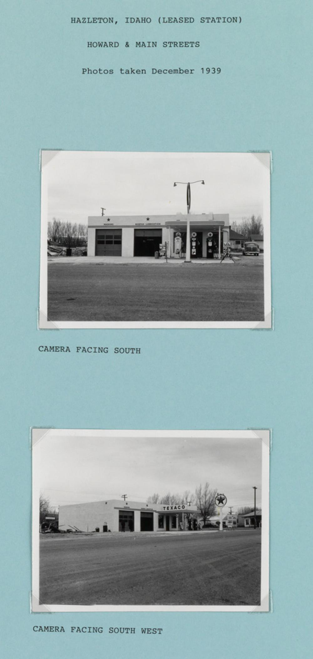 (GAS STATIONS--TEXACO) A contemporary and an accomplished typological study with 79 photographs depicting Texaco gas stations throughou