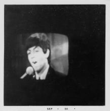 (TELEVISION) A series of 11 snapshots made of a television screen broadcasting The Beatles in September 1964.