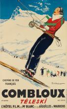 PAUL ORDNER (1900-1969). COMBLOUX / TÉLESKI. Circa 1935. 39x24 inches, 100x61 cm. Ch. Bahy, Mulhouse.