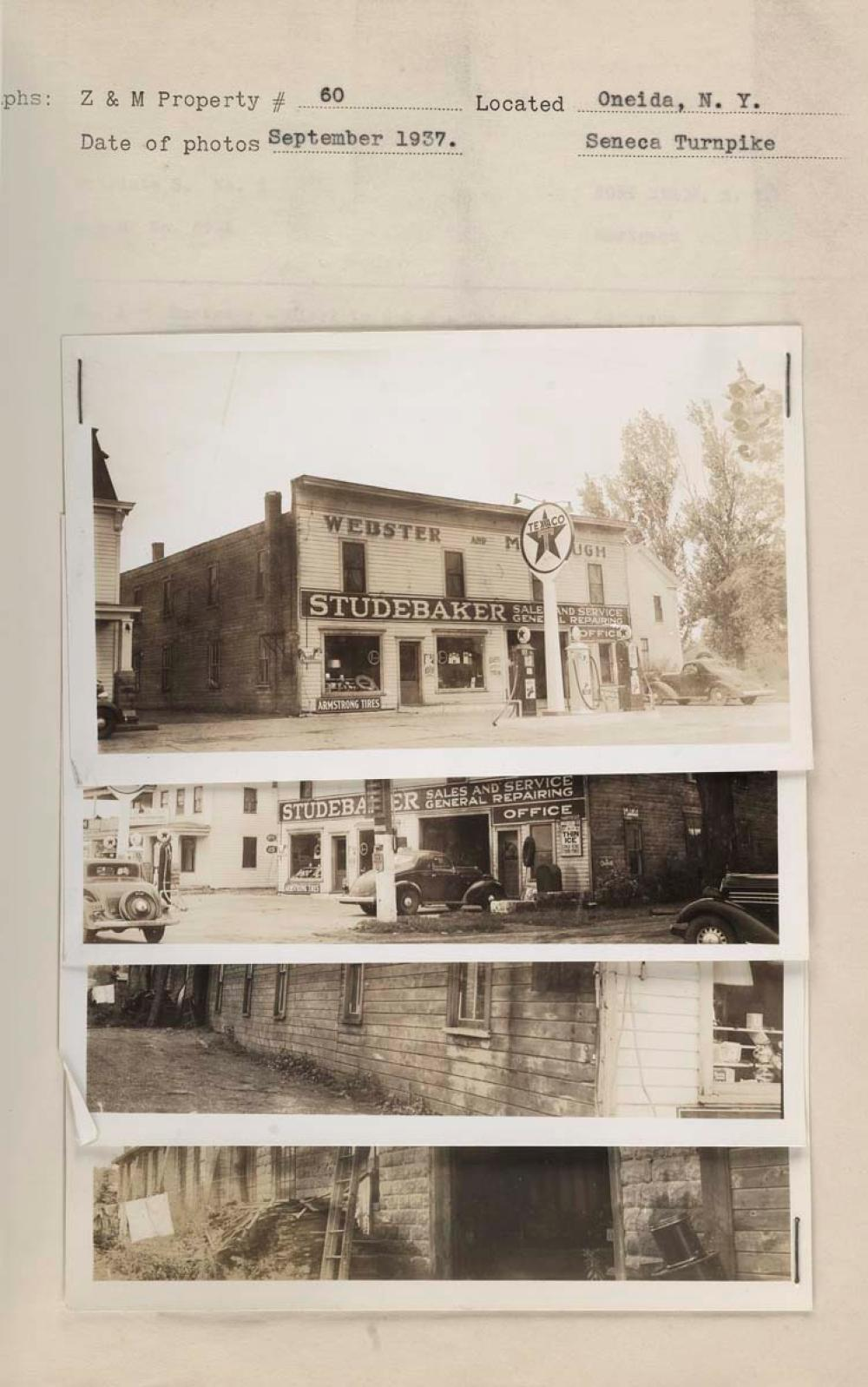 GAS STATIONS--TEXACO) Abum with 320 photographs of Texaco g