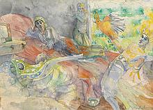 LOUIS DELSARTE (1944 - ) Breakfast in Bed.