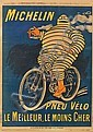 O'GALOP (MARIUS ROSSILLON, 1867-1946). PNEU VÉLO MICHELIN. Group of 4 posters. Circa 1915. Sizes vary. Chaix, Paris.,  O'Galop, Click for value
