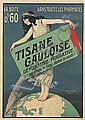 PAUL BERTHON (1872-1909). TISANE GAULOISE. Circa 1900. 62x44 inches, 157x112 cm. F. Champenois, Paris., Paul Berthon, Click for value