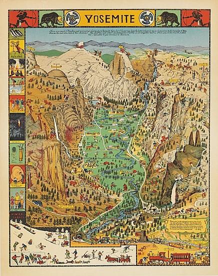 JOSEPH J. MORA (1876-1947). YOSEMITE. 1931. 19x15 inches, 48x38 cm.