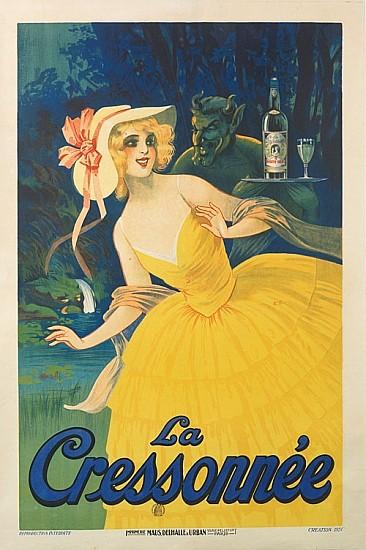 MARCELLIN AUZOLLE (1862 -1942). LA CRESSONNÉE. 1924. 47x31 inches, 119x79 cm. Maus, Delhalle & Urban, Paris.