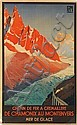 ROGER SOUBIE (1898-1984). DE CHAMONIX AU MONTENVERS. 1920. 39x24 inches, 99x61 cm. Delattre, Paris., Roger Soubie, Click for value