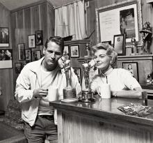 SID AVERY (1918-2002) Paul Newman and Joann Woodward.
