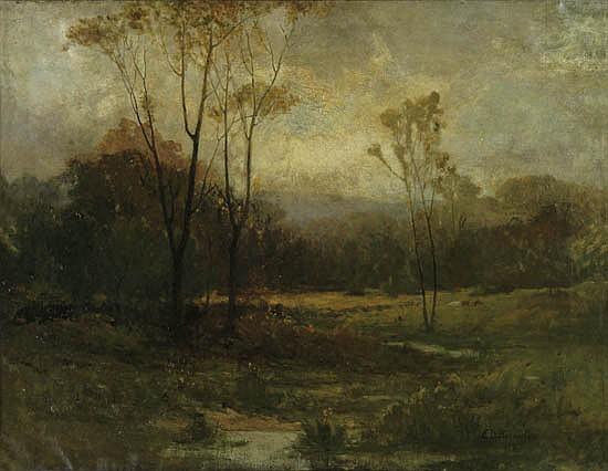 EDWARD M. BANNISTER (1828 - 1905) Untitled (Rhode Island Landscape).