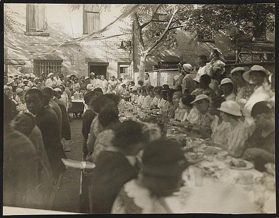 JAMES VANDERZEE (1886 - 1983) Untitled (Harlem Backyard Banquet).