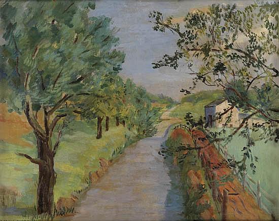 LAURA WHEELER WARING (1887 - 1948) Untitled (Rural Landscape).