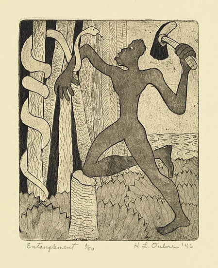 HAYWARD L. OUBRE (1916 - 2006) Entanglement.