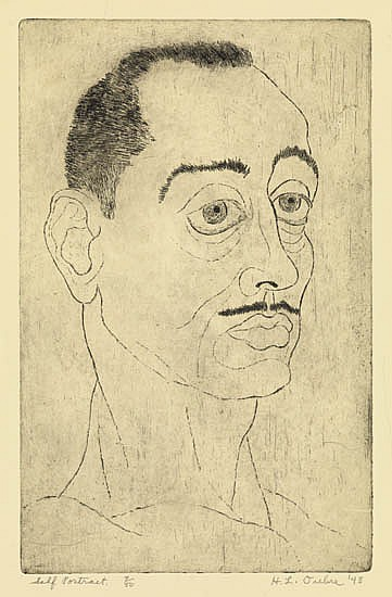 HAYWARD L. OUBRE (1916 - 2006) Self-Portrait.